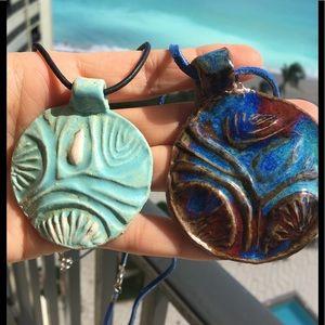 Ceramic Pendant Artist Made Wearable Necklace Art